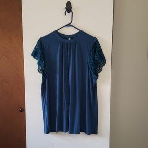 Torrid size 3 lace sleeve blouse